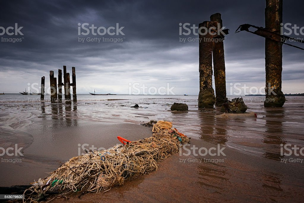 Sierra Leone, West Africa, the beaches of Yongoro stock photo