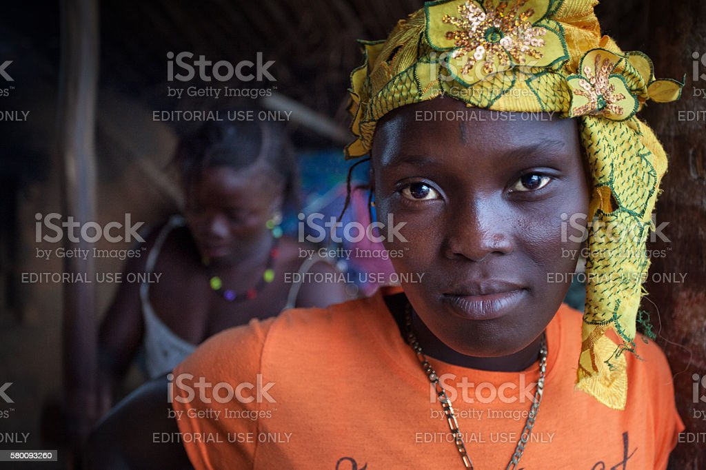 Sierra Leone, West Africa, the village of Yongoro stock photo