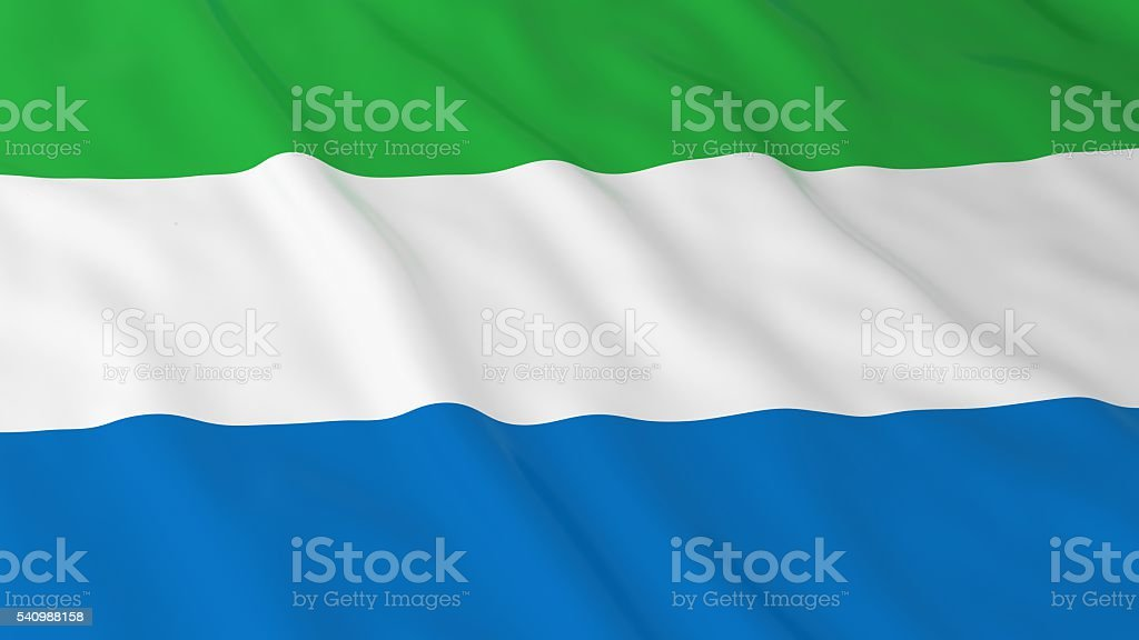 Sierra Leonean Flag HD Background - Flag of Sierra Leone stock photo