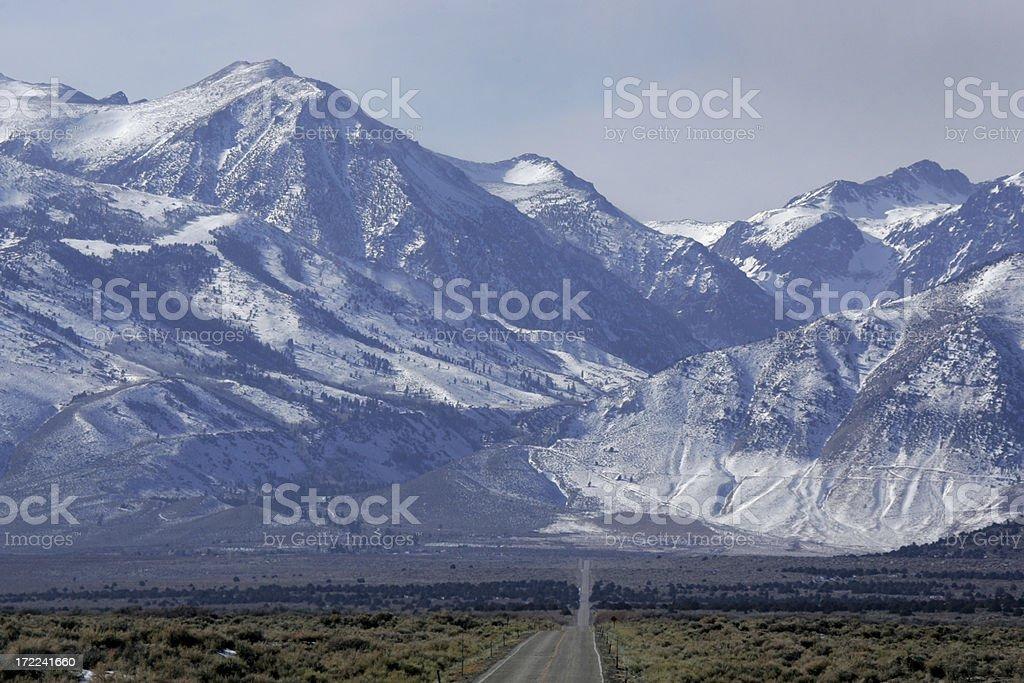 sierra mountains stock photo
