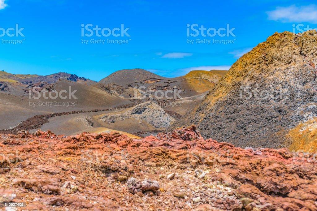 Sierra Negra Volcano, Galapagos, Ecuador stock photo