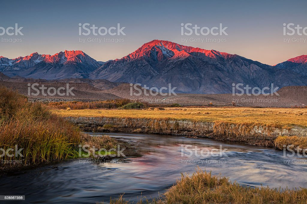 Sierra Nevada at Dawn stock photo