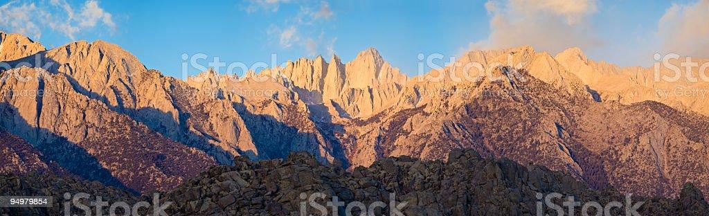Sierra Nevada dawn royalty-free stock photo