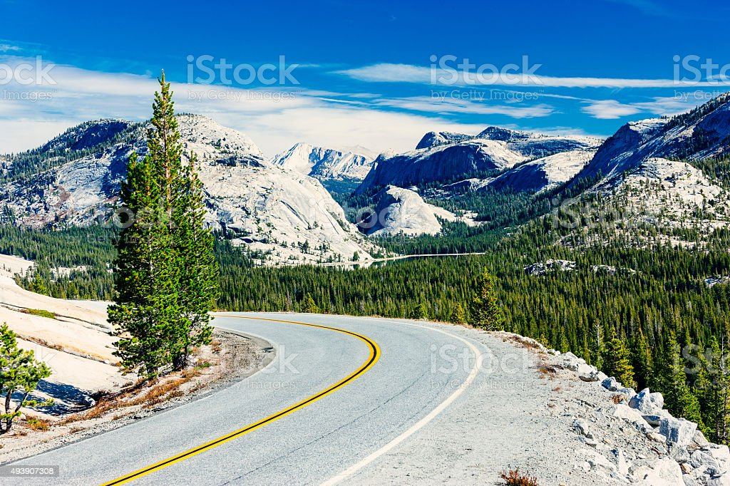 Sierra Nevada from Olmsted Point stock photo