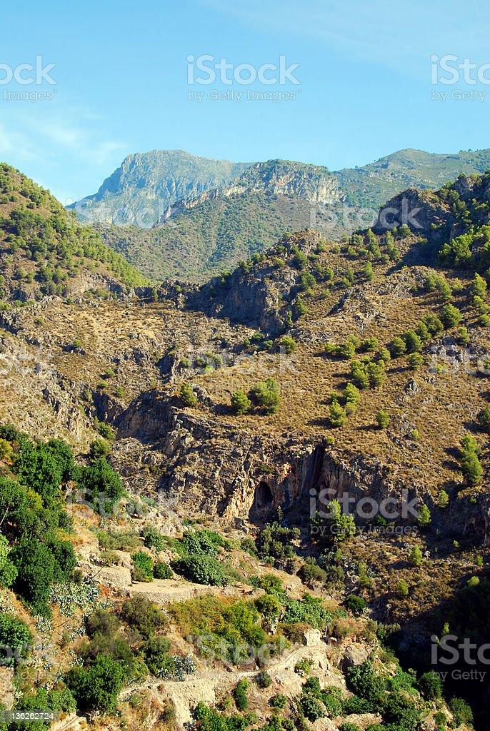 Sierra Nevada in Spain royalty-free stock photo