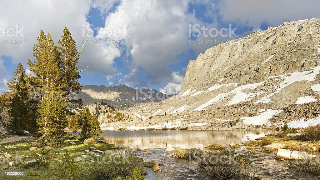 Sierra Nevada Lake Scenery stock photo