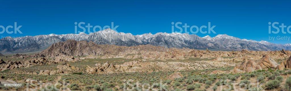 Sierra Nevada Mountains Panorama stock photo