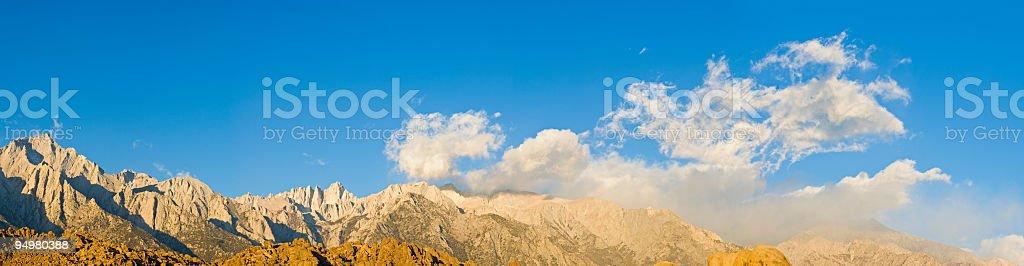 Sierra Nevada Mt Whitney panorama royalty-free stock photo