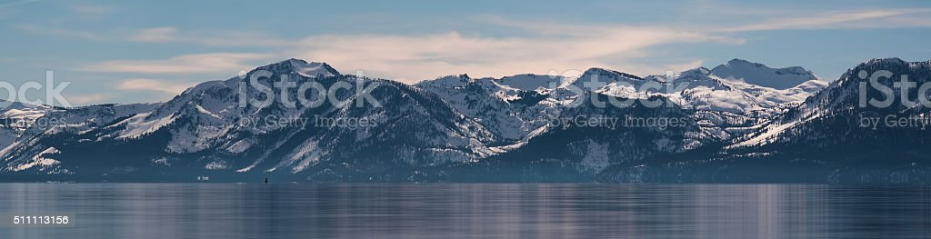 Sierra Nevada Panorama at Lake Tahoe stock photo