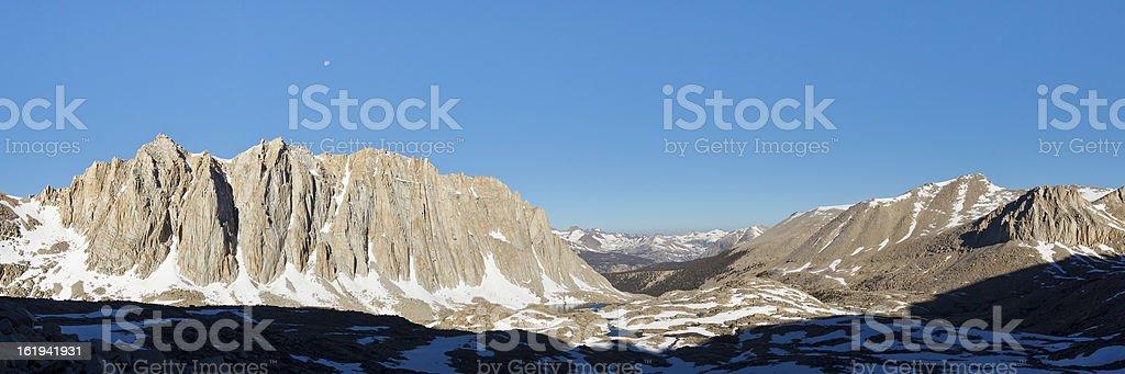 Sierra Nevada Peaks Panorama stock photo