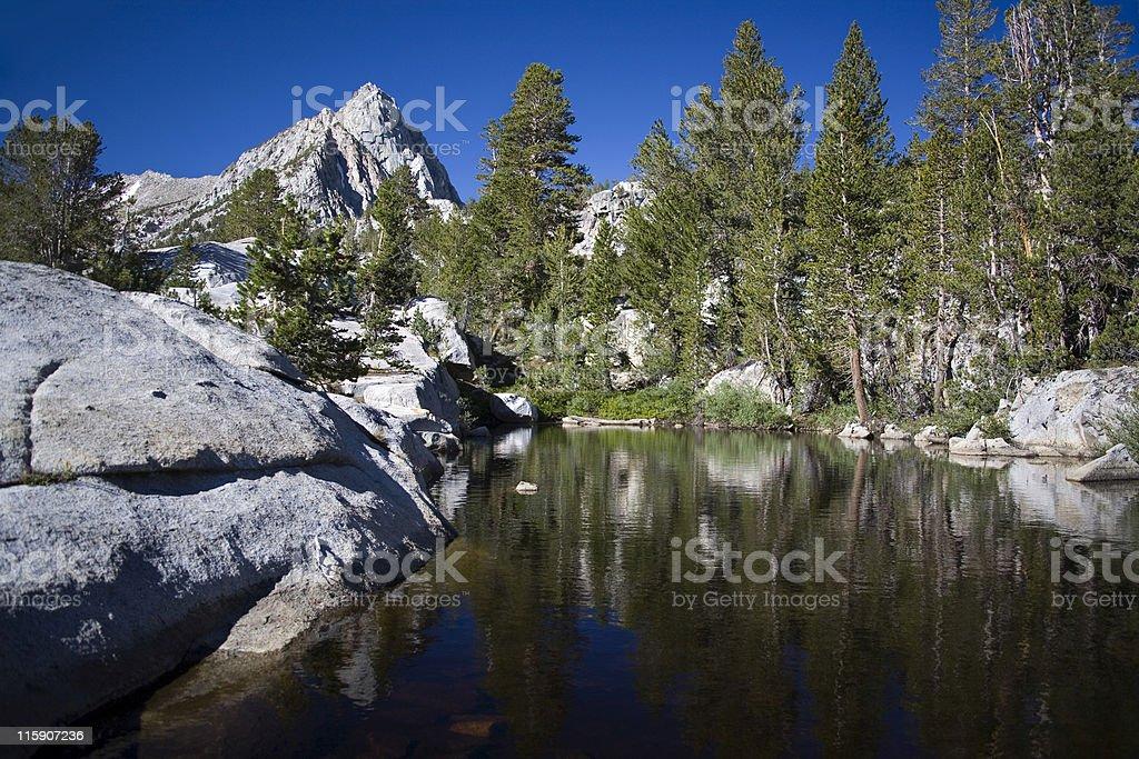 Sierra Nevada Tarn stock photo