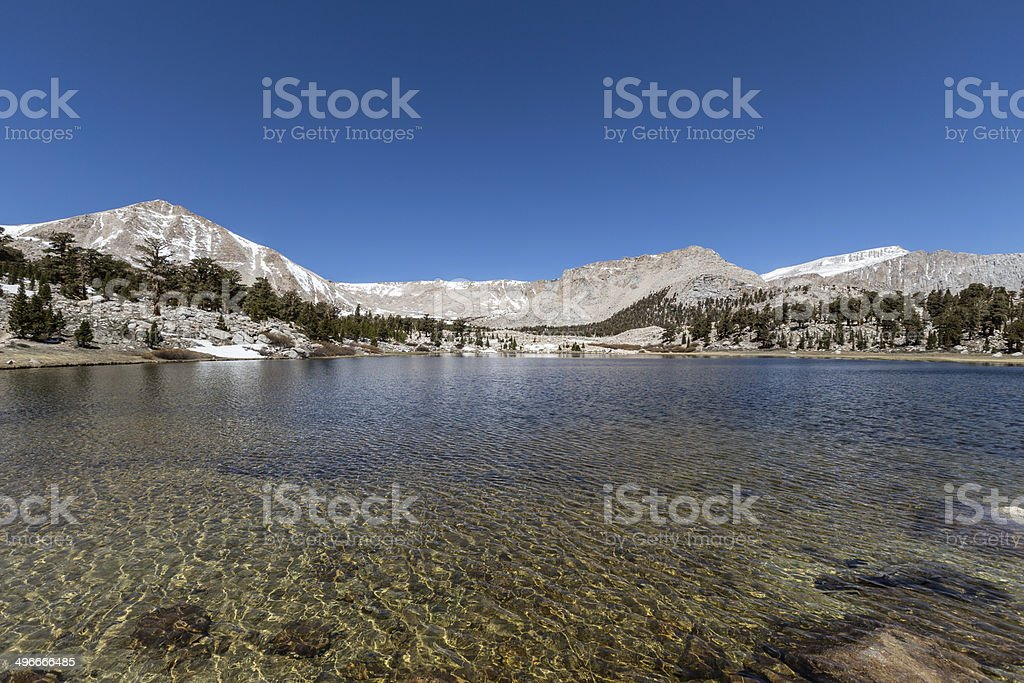 Sierra Nevada Wilderness Lake stock photo