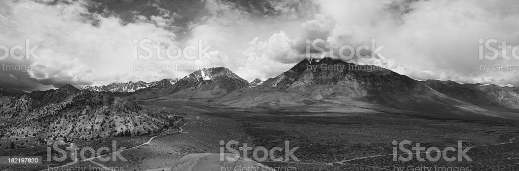Sierra Nevadas Panoramic stock photo