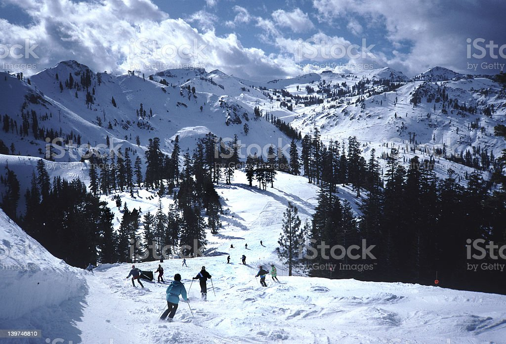 Sierra Ski Day stock photo