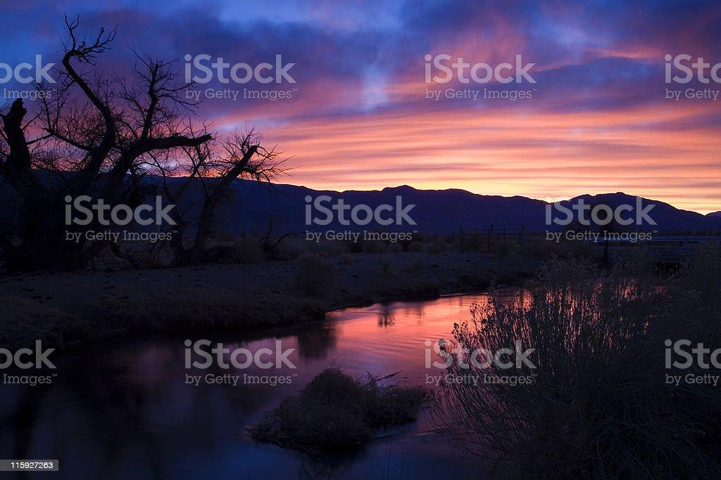 Sierra Sunrise stock photo