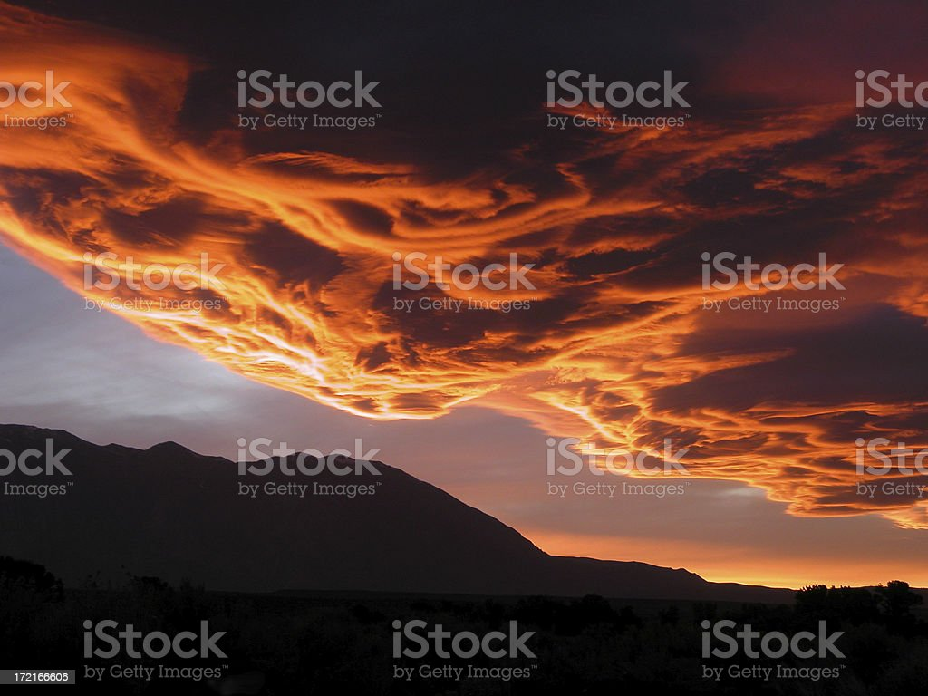 Sierra Wave Cloud Formation stock photo