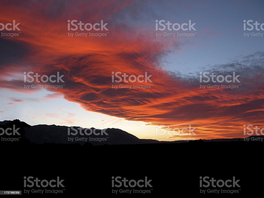 Sierra Wave Cloud Formation stock photo