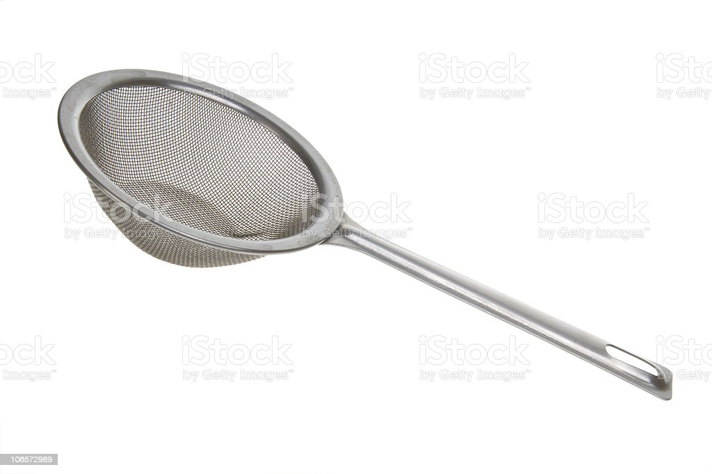 sieve isolated on white background stock photo