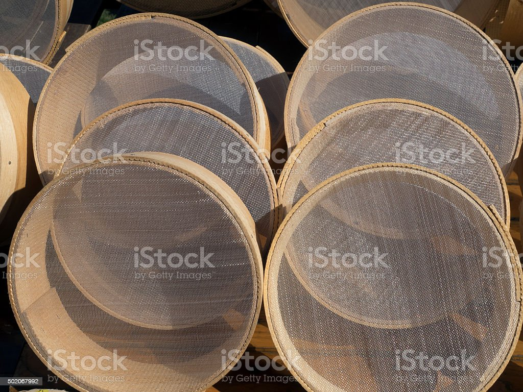sieve shop stock photo