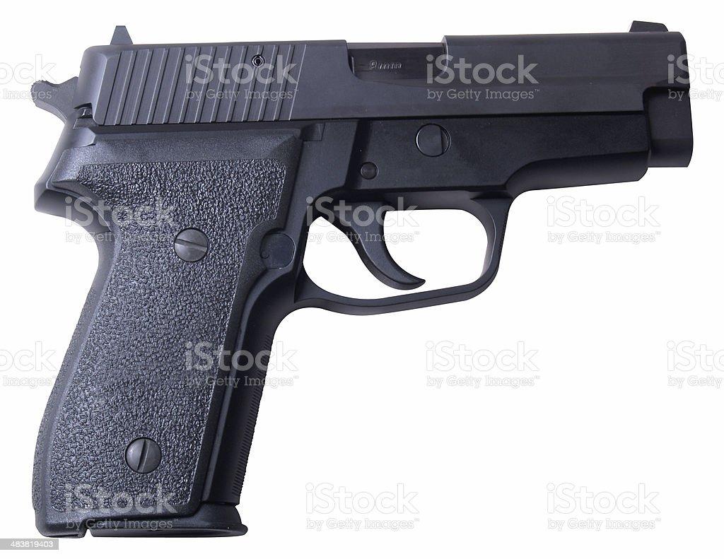 9MM Sig Hand Gun stock photo
