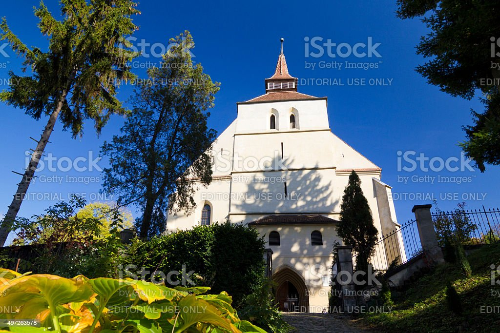 Sighisoara- Gothic church stock photo