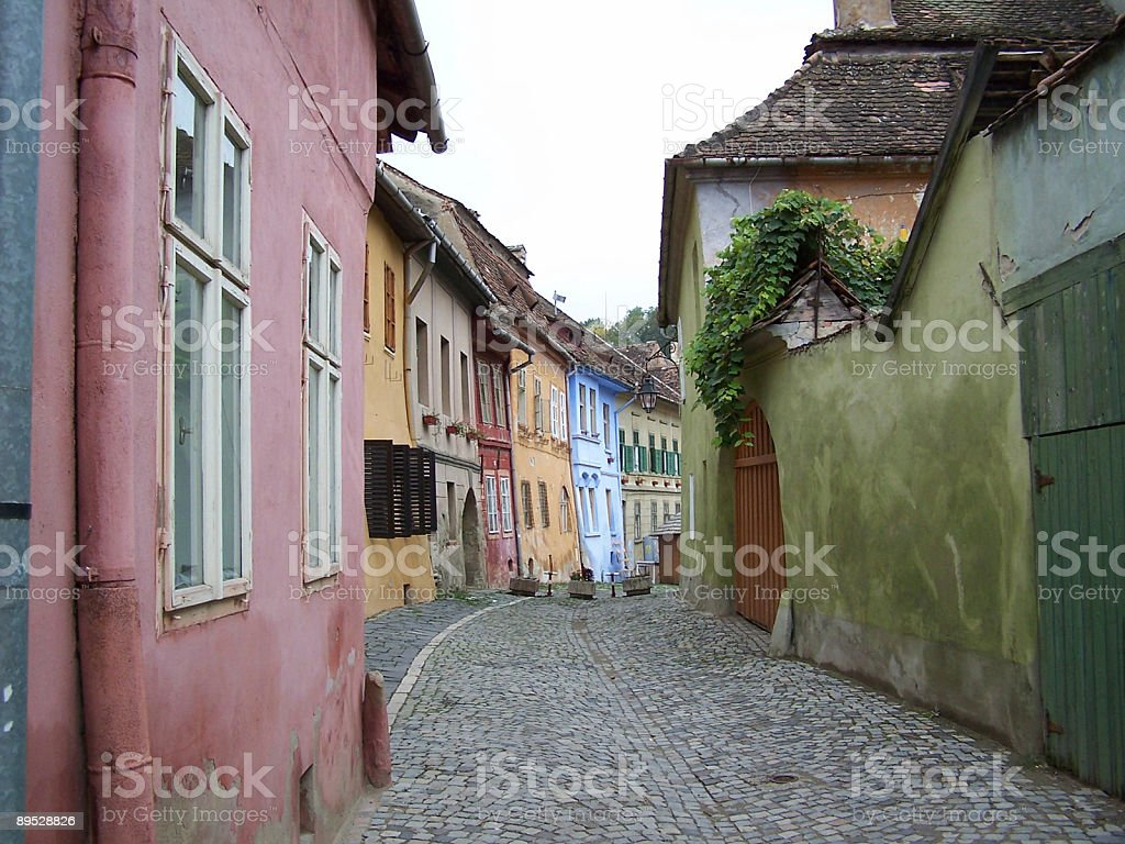 Sighisoara Street royalty-free stock photo