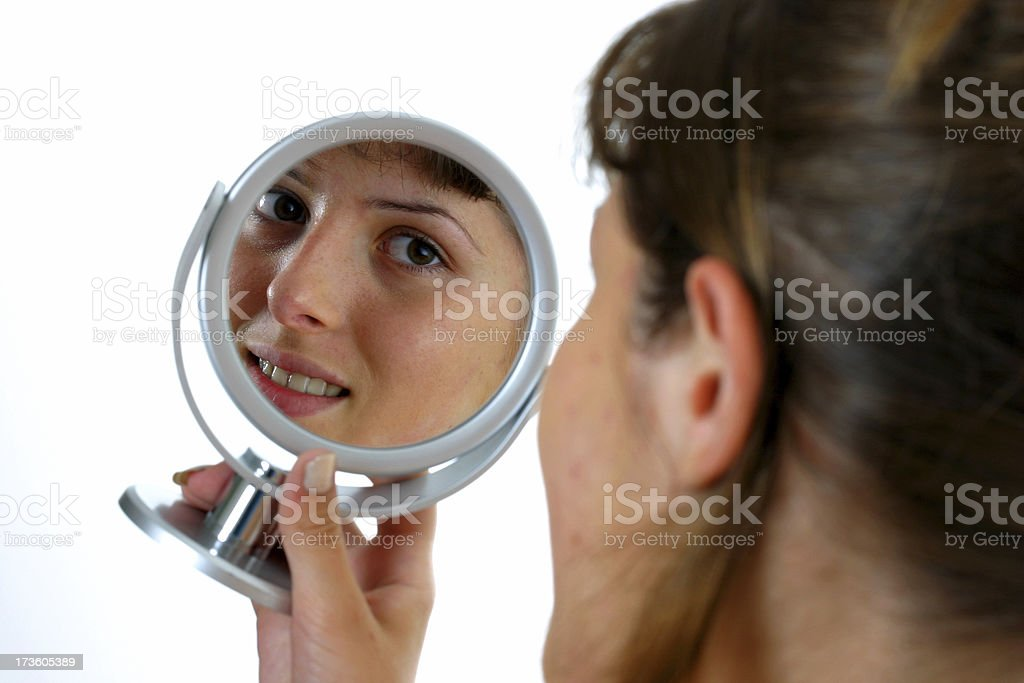 Sight from a mirror royalty-free stock photo