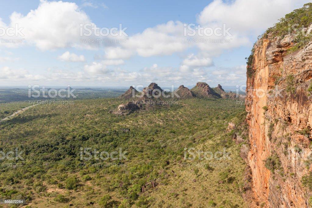 Sight from the top of Chapada's Portal - Carolina, Maranhao, Brazil stock photo