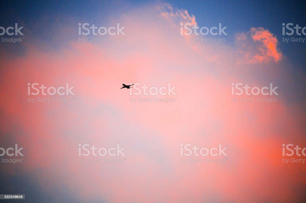 Sight of airplane stock photo
