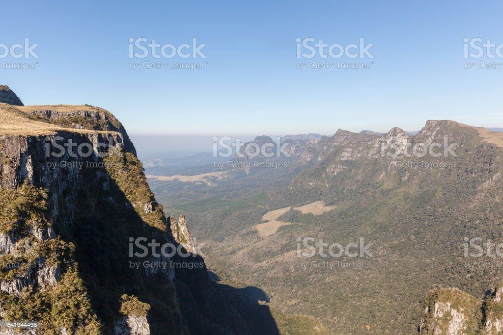 Sight of Espraiado Canyon, Urubici, SC, Brazil stock photo