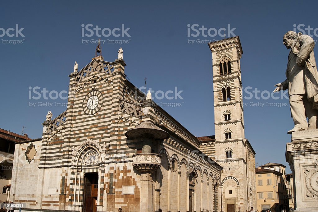 Sight of Prato Cathedral square royalty-free stock photo