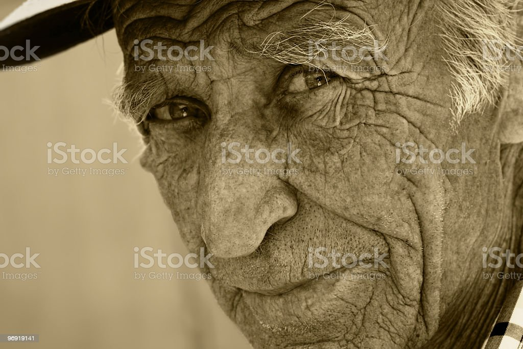 Sight of the old man royalty-free stock photo