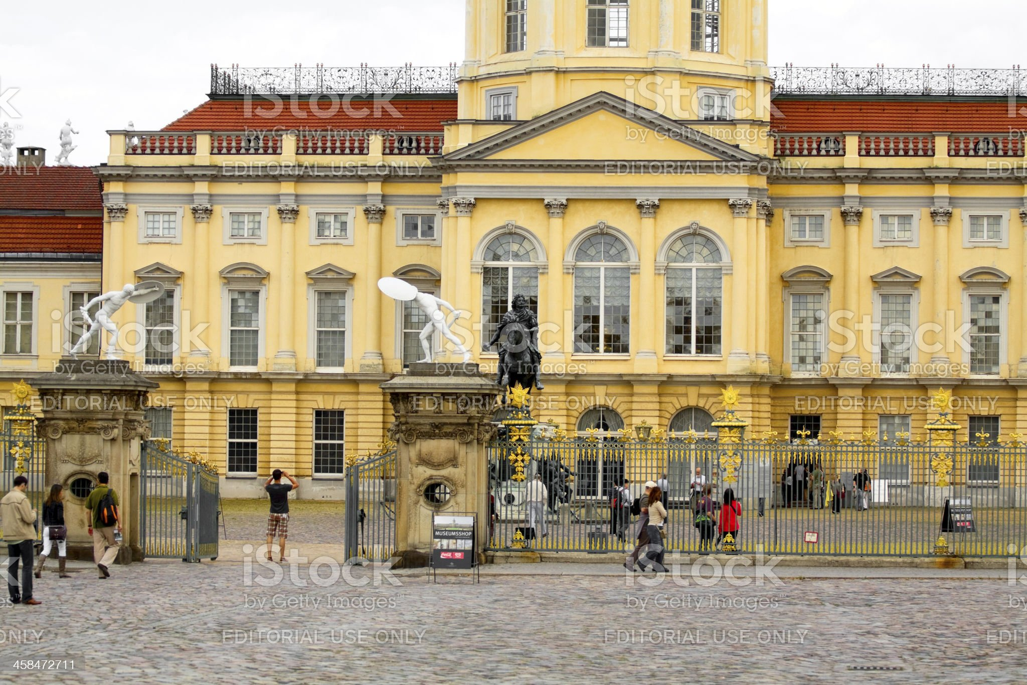 Sight seeing at Castle Charlottenburg royalty-free stock photo