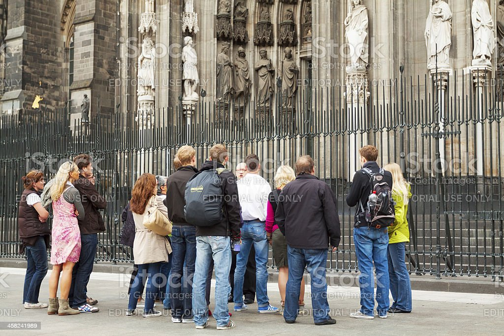 Sight seeing at Cathedral of Cologne royalty-free stock photo