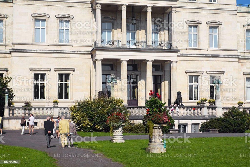 Sight seeing at Villa Hügel stock photo