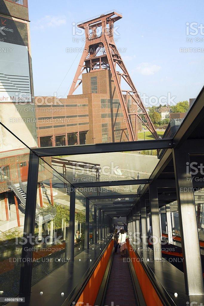 Sight seeing at Zeche Zollverein stock photo