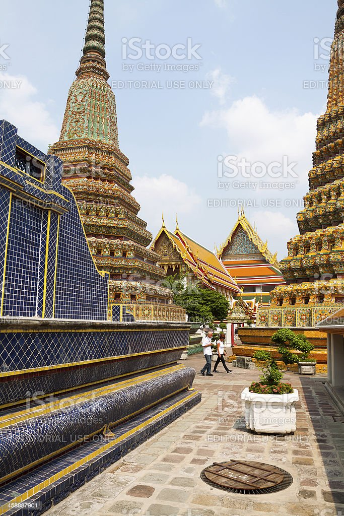 Sight seeing between pagodas royalty-free stock photo