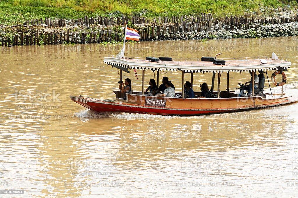 Sight seeing boat on Chao Praya royalty-free stock photo