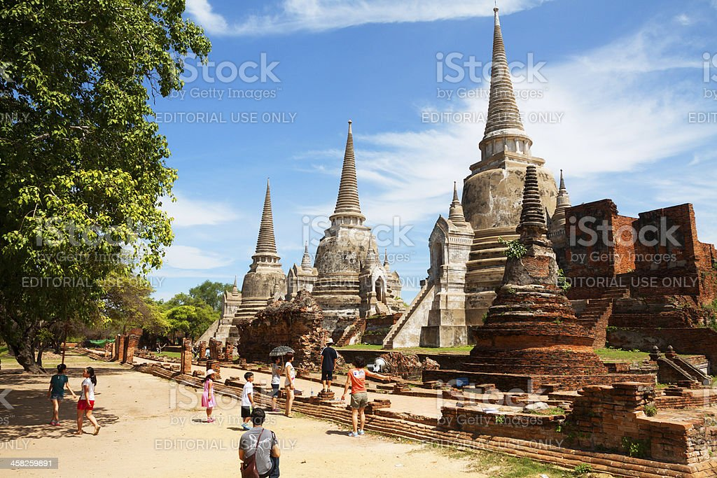 Sight seeing in Grand Palace stock photo
