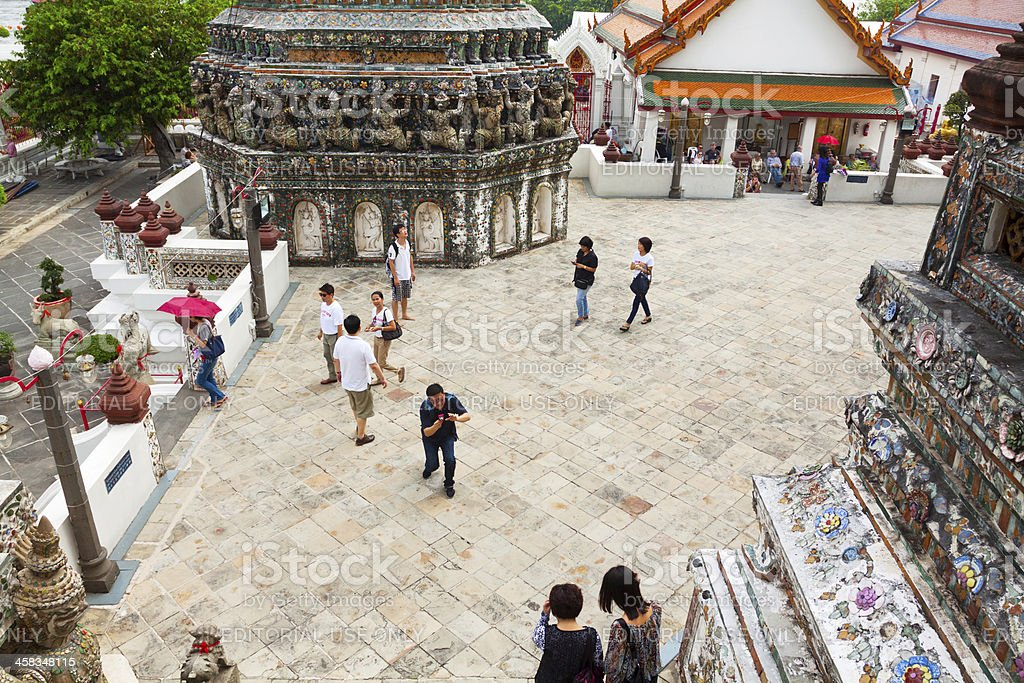 Sight seeing in Wat Arun royalty-free stock photo
