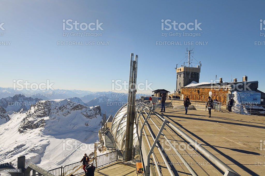 Sight seeing on Zugspitze royalty-free stock photo