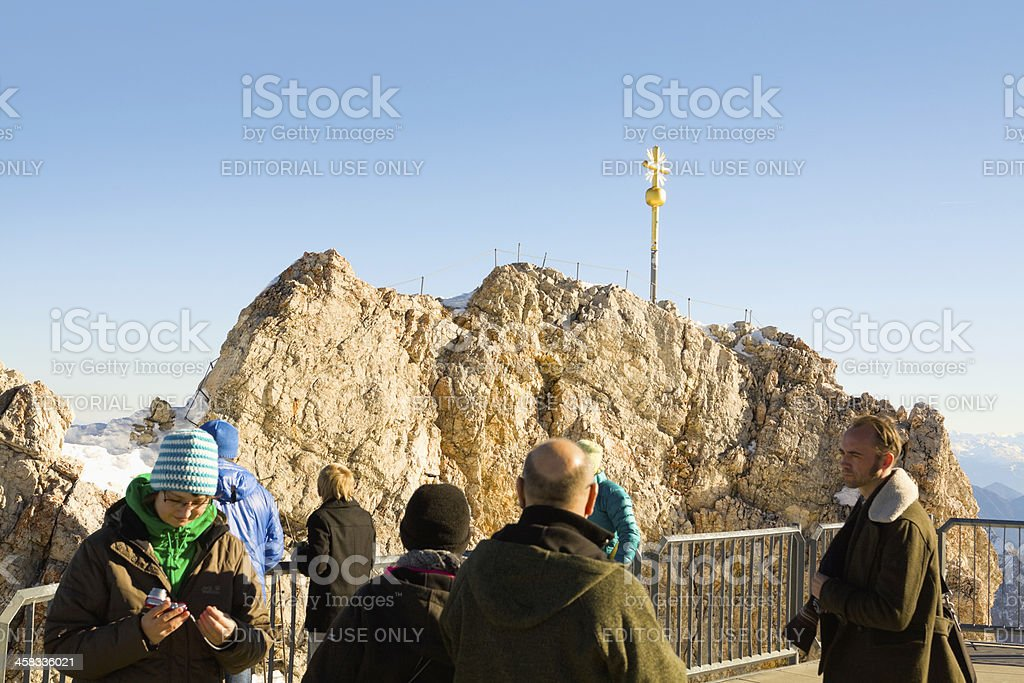 Sight seeing on Zugspitze stock photo