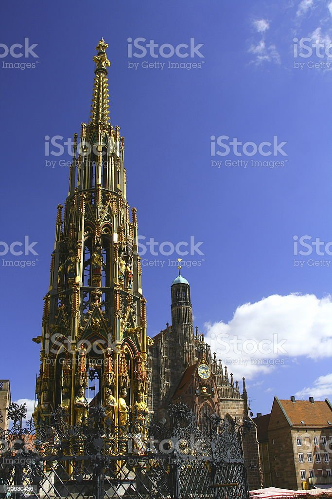 Sights of Nuernberg royalty-free stock photo
