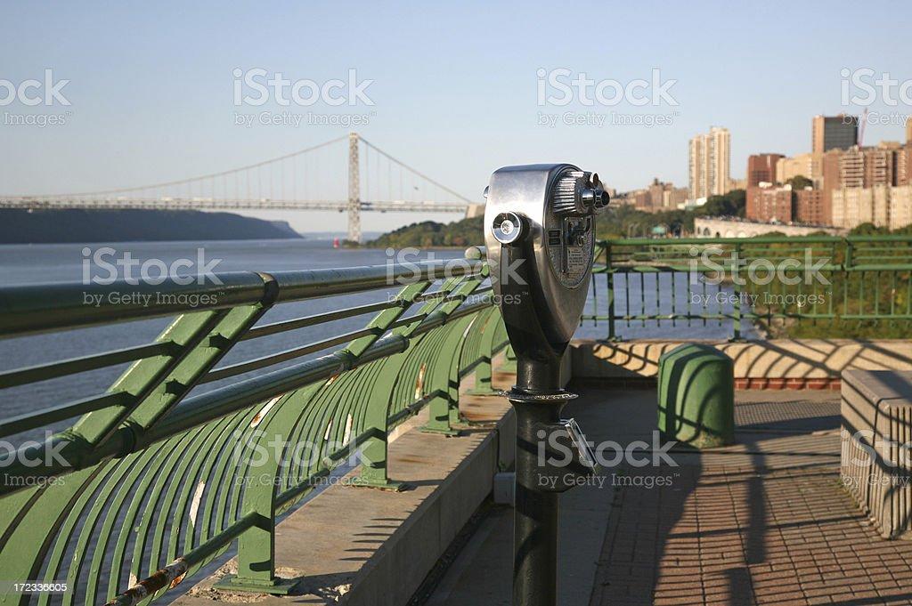 Sightseeing Binocular On Overlook stock photo