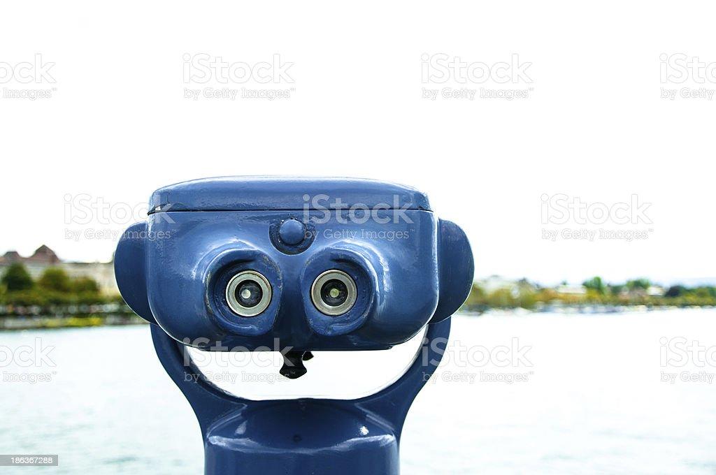 Sightseeing Binoculars stock photo