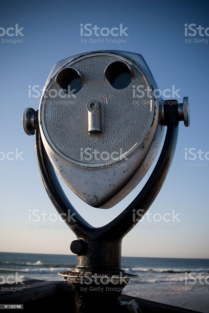 Sightseeing Binoculars royalty-free stock photo