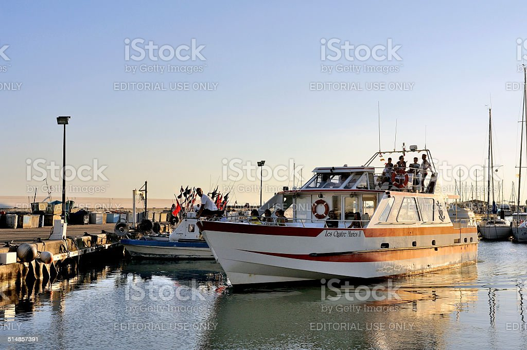 Sightseeing boat stock photo