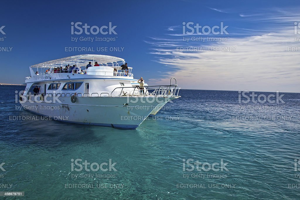Sightseeing boats in Red Sea royalty-free stock photo