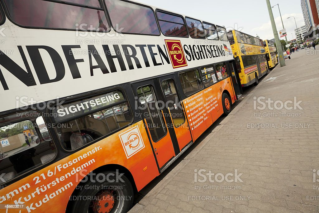 Sightseeing buses stock photo
