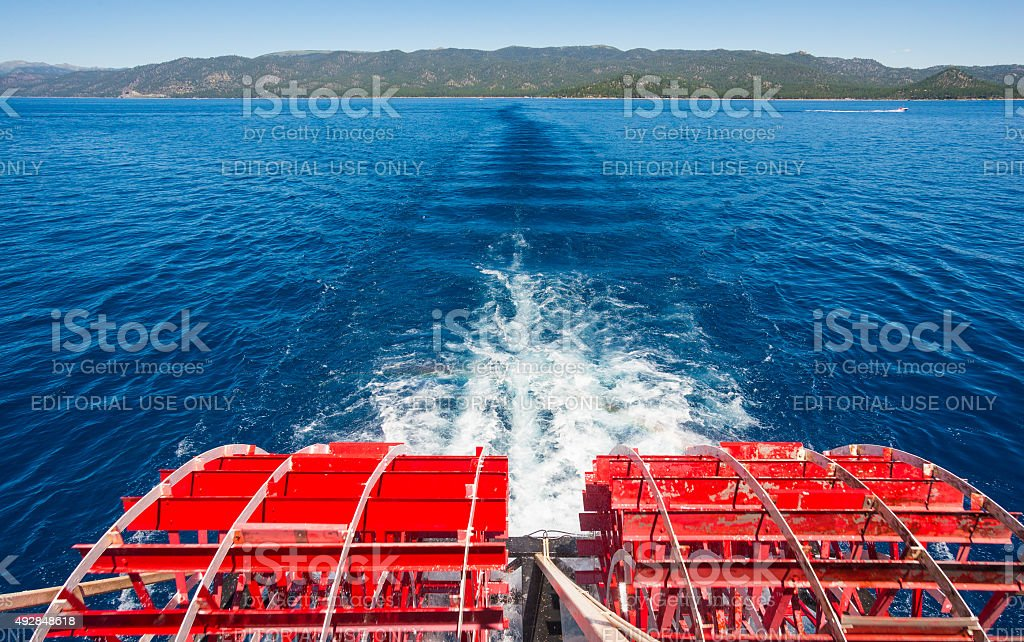 Sightseeing cruise Tahoe Queen stock photo